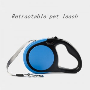 Retractable pet leash is comfortable and durable, dog automatic retractor, flat rope leash