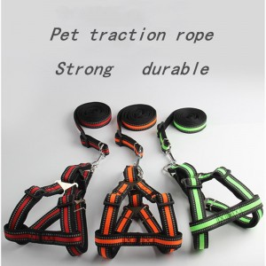 New pet leash, reflective chest strap for dogs, small and medium-sized dog leashes