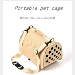 Pet supplies space dog bag Removable cushion and breathable net, foldable cat and dog back bag EVA pet outing bag