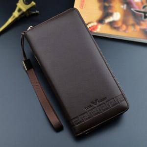 Casual Men's Wallet Long Clutch Bag Zipper Wallet Multifunctional Handbag Men's Wallet