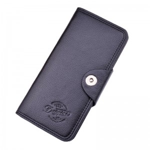 OEM/ODM China 3 Folding Vertical Wallet - Men's Wallet Long Wallet Men's Youth Fashion Classic Buckle Multi-Card Position 3 Fold Litchi Pattern Soft Leather Wallet Card Case – Sa...