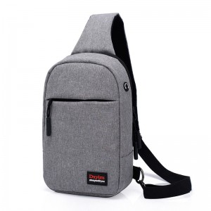 New portable earphone hole anti-theft shoulder bag casual wild outdoor diagonal bag