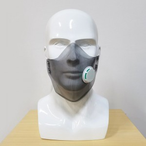 New protective PC soft rubber mask, transparent face mask, splash-proof isolation with breathing valve protective cover