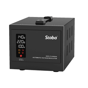 2020 wholesale price 3 Phase Voltage Stabilizer - SVR-172 Series (0.5kVA-5kVA) Relay Type Voltage Stabilizers with Colorful Display – Staba Electric