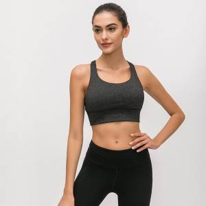 Wholesale Yoga Workout Wear Factory - Custom ladies fitness yoga wear padded cross back women sports bra – Stamgon