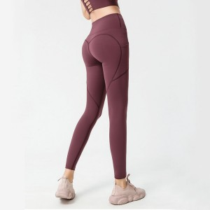 Wholesale Printed Yoga Leggings Suppliers - Tummy Control Butt Lift Yoga Pants with Pockets for Women 4 Way Stretch Naked feeling Tight Yoga Leggings  – Stamgon