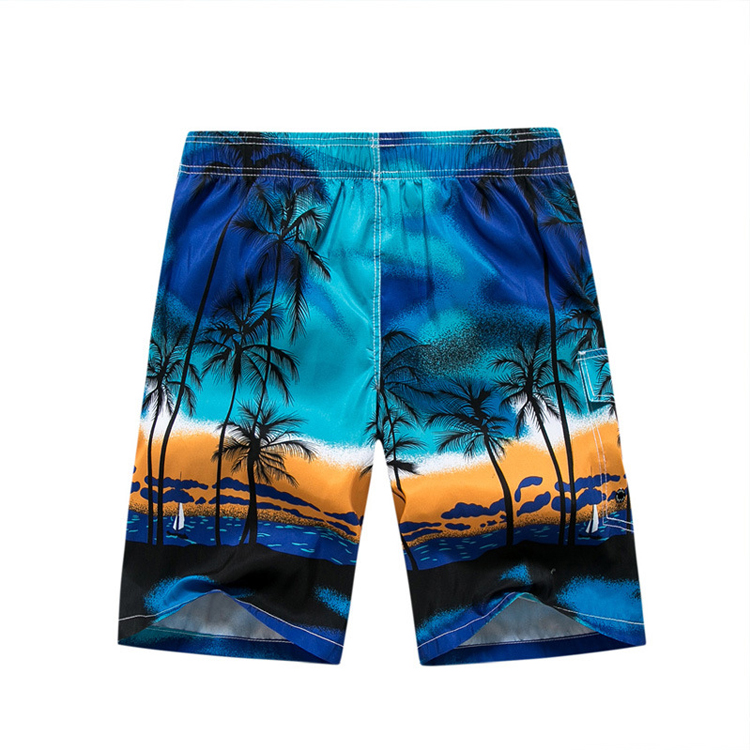 Wholesale Mens Beach Trunks Manufacturers - Mens Printed Swim Trunks Quick Dry Beach Shorts with pockets – Stamgon