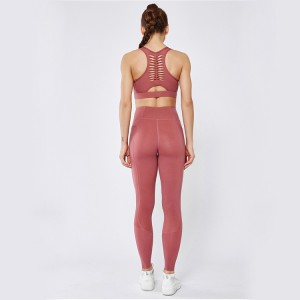 High impact fitness yoga wear women custom high waist yoga pants with pocket