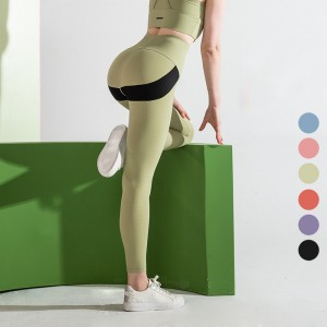 Factory For Gym Tops - 2020 new fashion wholesale double sides custom logo tight active wear high waist butt lift women sexy yoga pants – Stamgon