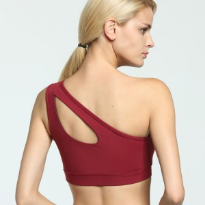 Women's Removable Padded Strappy Sports Bra Yoga Tops Activewear for Women