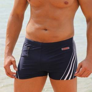 Wholesale Brazilian Bikini Suppliers - Stamgon Men's Solid Swim Suit with zip pocket – Stamgon