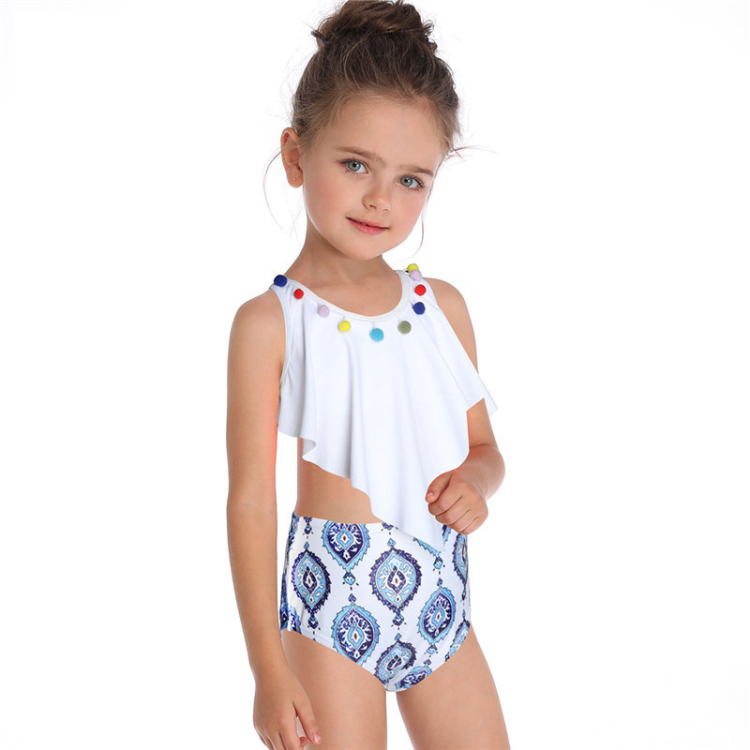 Discount wholesale Push Up Bathing Suits - Custom cute two piece children swimwear kids bikini for girls – Stamgon detail pictures