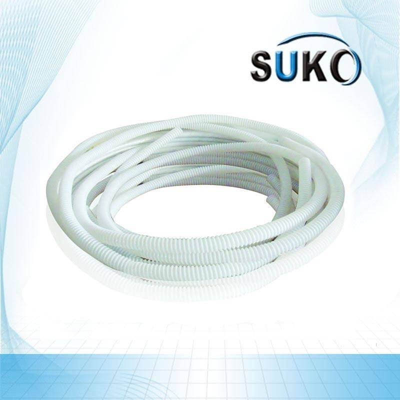 Best quality Uhmwpe Extrusion - 1/4 Inch PTFE Convoluted Tubing/Hose White – SuKo