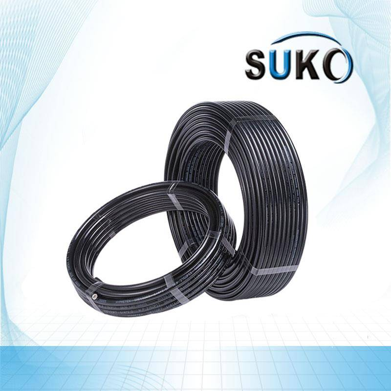 Black PTFE Tube/Pipe/Hose OD 6mm ID 4mm