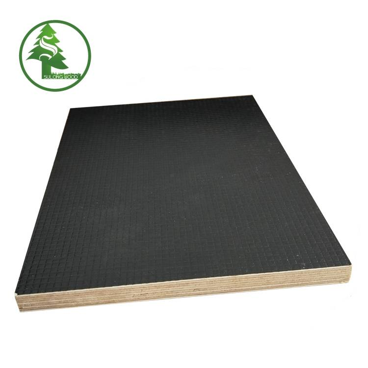 Trending Products 22mm Exterior Plywood - Negative-grain Anti-slip Film Faced Plywood – SULONG detail pictures