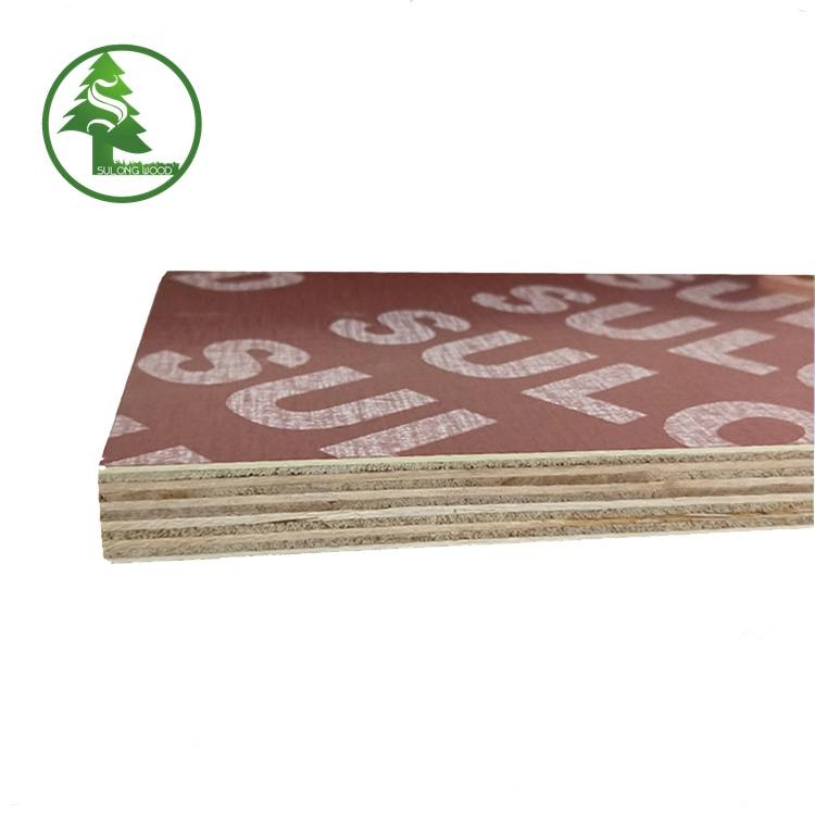 Best quality 19mm Marine Plywood -  Finger-jointed film faced plywood red – SULONG