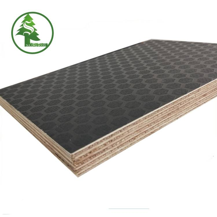 Wholesale Price China Greenply Marine Plywood - Hexagon Anti-slip Film Faced Plywood – SULONG detail pictures