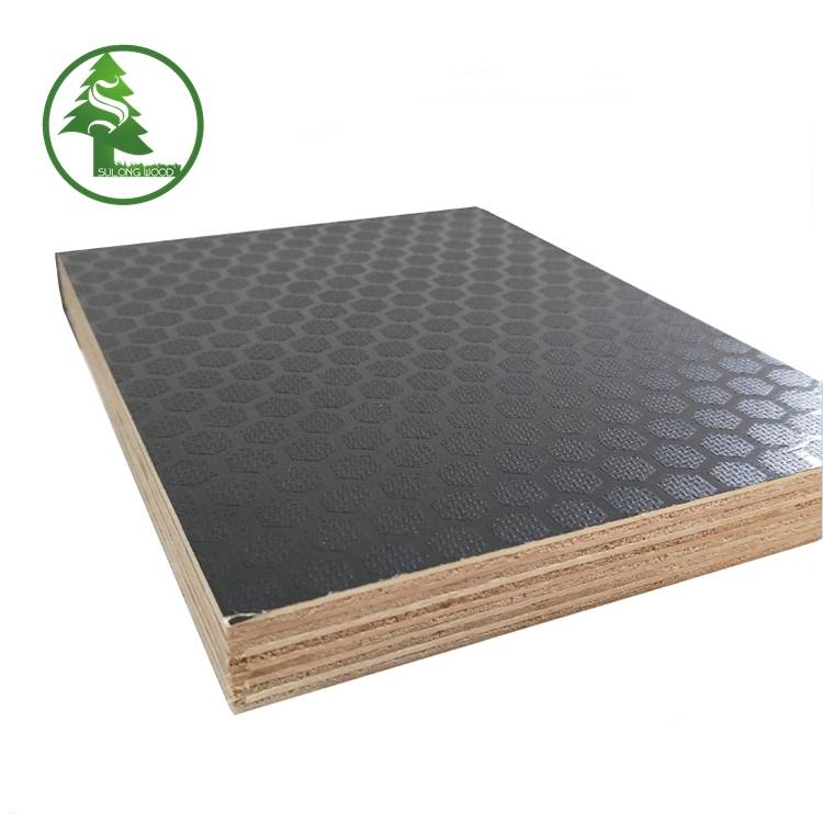High definition 19mm Thick Marine Plywood Price - Hexagon Anti-slip Film Faced Plywood – SULONG