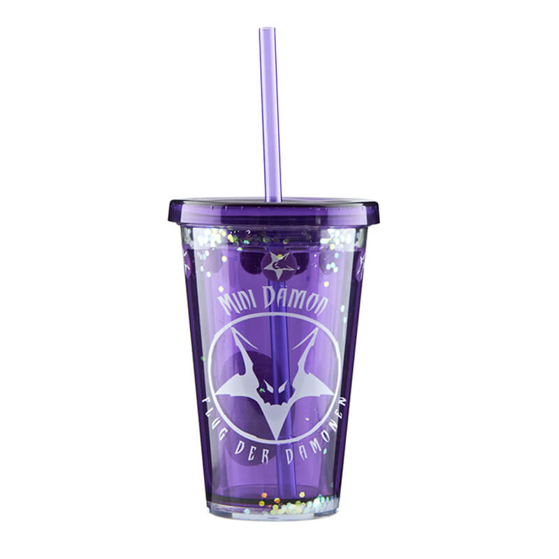 Cheap Pricelist For Customizable Insulated Tumbler -  customized 12oz Double wall  plastic tumber with straw  – SUNSUM