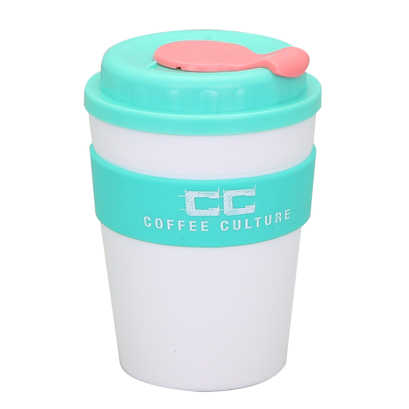 Oem Supply Double Wall Plastic Travel Mug - wholesale 250ml travel coffee mug with silicone sleeve – SUNSUM