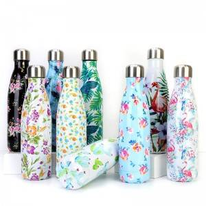 500ml cola bottle shaped double wall vacuum insulated flask swell bottle