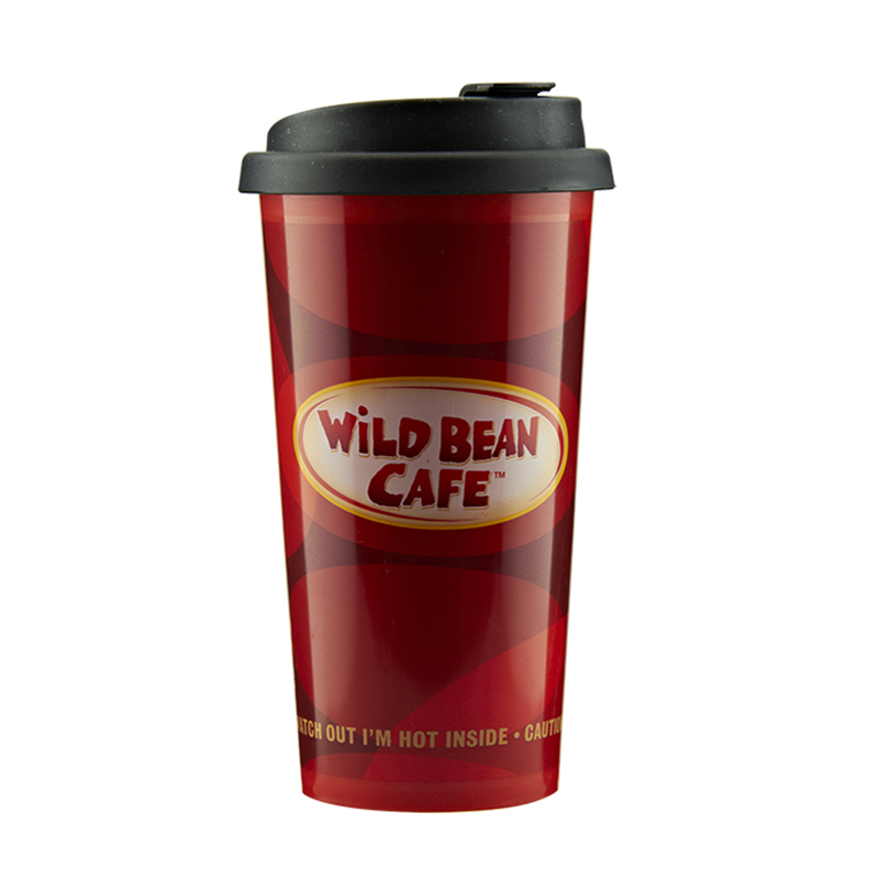 Oem Customized Custom Plastic Coffee Cups With Lids -  wholesale 450ml travel coffee mug custom logo – SUNSUM