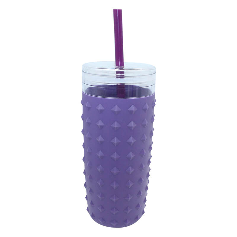 900ml plastic tumbler with silicone sleeve Featured Image