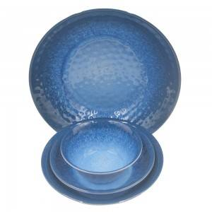 Wholesale pitted texture melamine plate and bowl dinner set