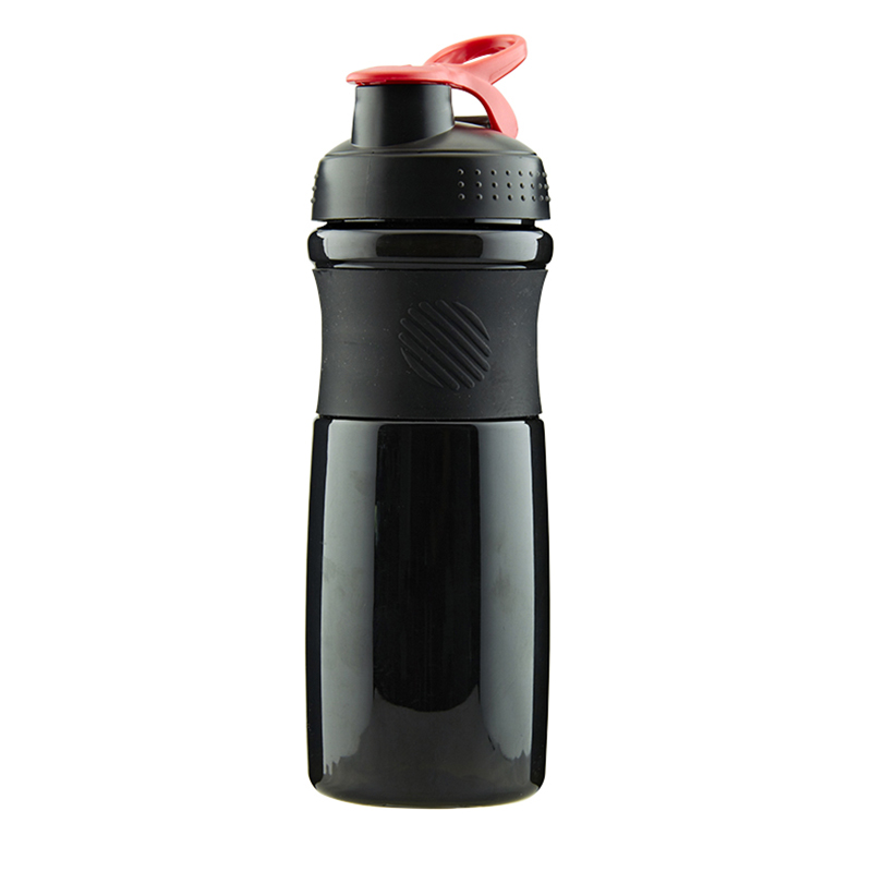 Lowest Price For Square Water Bottle Plastic - 100% BPA free 760ml leak-proof plastic sport shaker bottle with silcone sleeve – SUNSUM