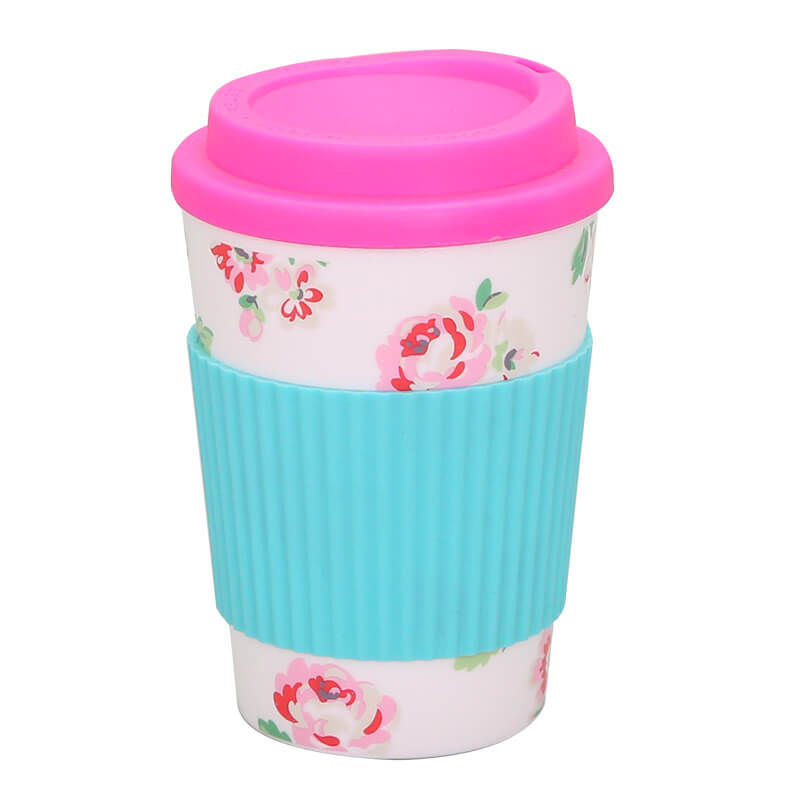Top Quality Custom Printed Paper Coffee Cups – wholesale 350ml travel coffee mug with silicone sleeve – SUNSUM