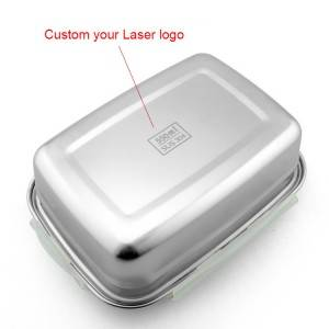 High Quality custom logo stainless steel lunch box