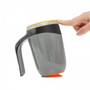 500ml Double Wall Non-Spill Suction Mug with Handle