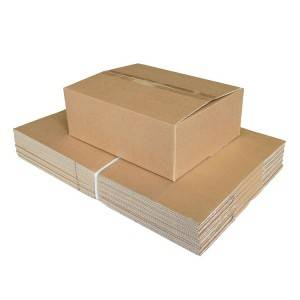top quality china wholesale recycled customized logo printed  corrugated paper box packaging box
