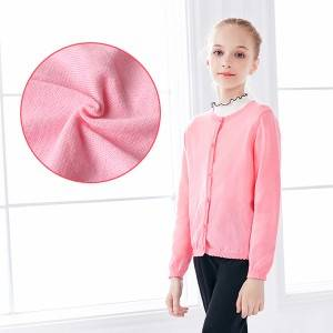 China OEM Girls Jumpers - Factory Wholesale Girls Children Cardigan Sweaters – Haiermei