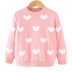 Cheap PriceList for Hollow Cardigan - Custom Winter Boutique Love Pattern Girl Sweaters – Haiermei