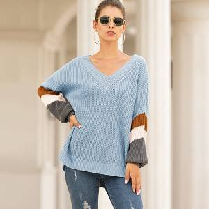 China Sweater Factory - Custom Fashion Women High Quality Casual Knit Pullover Sweater – Haiermei