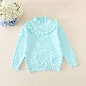 Factory directly supply Kids Cable Knit Sweater - Wholesale Custom Girls Winter Sweater – Haiermei
