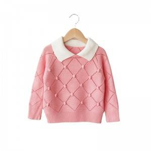 OEM manufacturer Lantern Sleeve Sweater - Custom Wholesale Girls Pompom Sweater – Haiermei