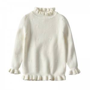 Factory making Winter Sweater - Custom Stylish Knitted Girl Pullover Sweaters – Haiermei