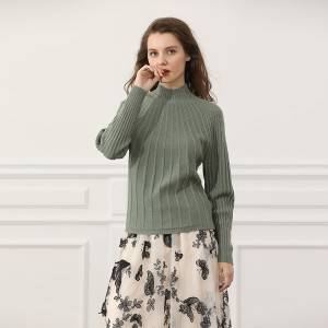 Factory Wholesale High Quality Knit Pullover Women Sweater