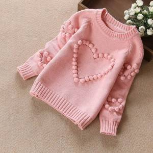 Best Price on Core Yarn Cardigan - OEM Girl Knitted Pullover Sweater With Pattern – Haiermei