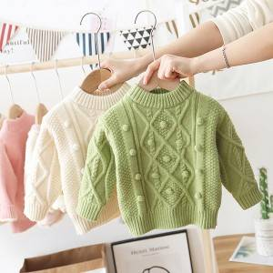 OEM Factory Wholesale Fashion Knitted Cotton Pullover Girls Sweater