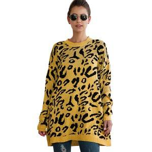 Discountable price Knitted Sweaters For Women - Wholesale Fall Winter Fashion Christmas Leopard Oversized Casual Knit Pullover Sweater – Haiermei