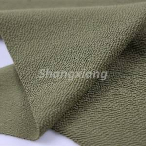 Recycled polyester crepe fabric knit dress fabric blazer fabric