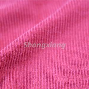 Poly fabric corduroy knit fabric outwear fabric