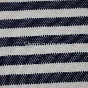 Navy/white Stripe fabric knit dress fabric top fabric