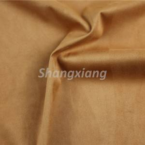 Poly fabric suede knit fabric outwear fabric