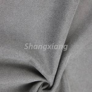 Faux suede knit outwear fabric
