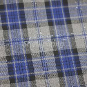 TR Plaid fabric woven pants fabric blazer fabric