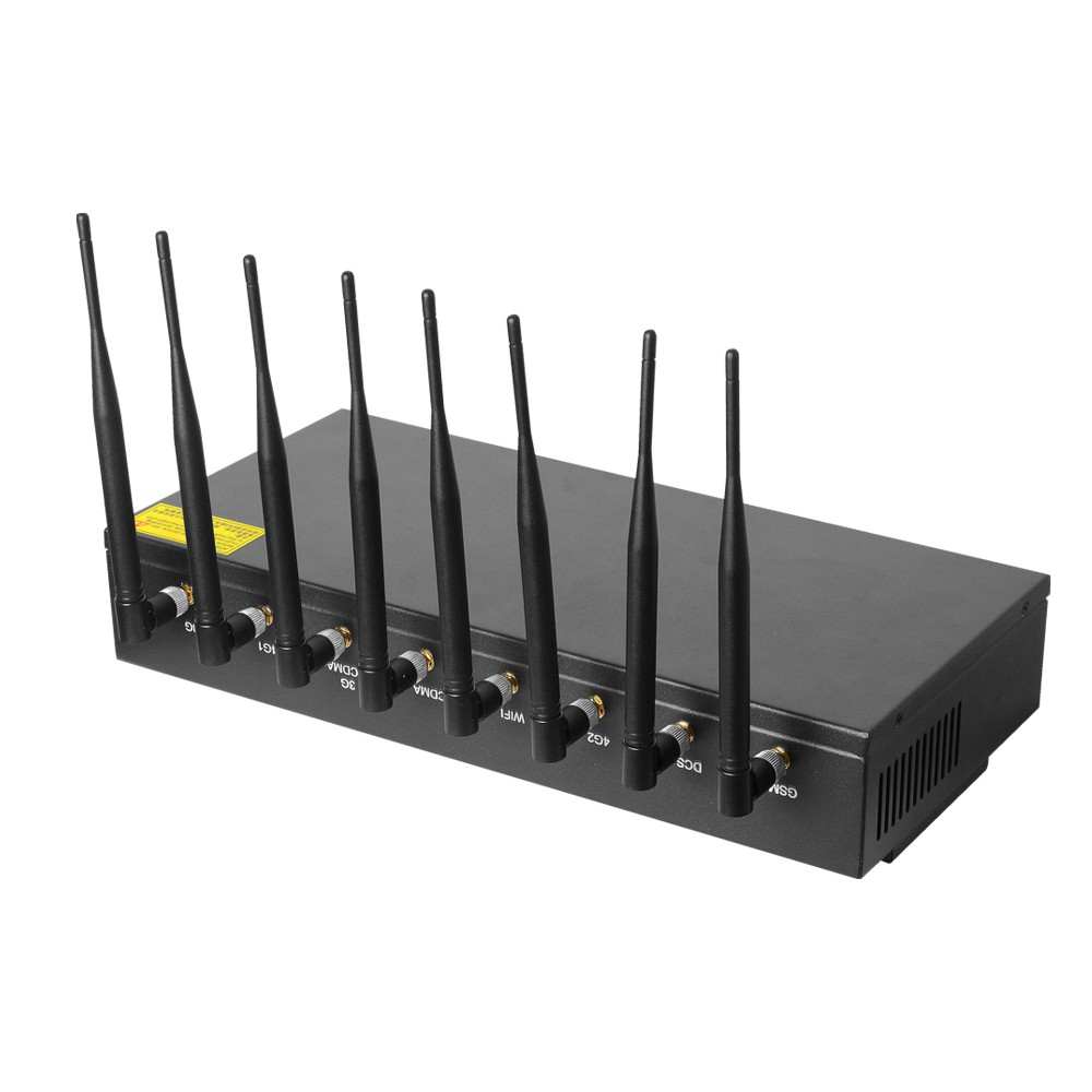 2020 China New Design Cell Jammer Wifi - 8 Bands Wireless  Signal Jammer – Hisea